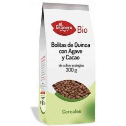 Bolitas de Quinoa con Ágave y Cacao eco 300 gr El Granero Integral