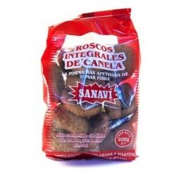 Roscos de Canela con fibra 400 gr Sanaví