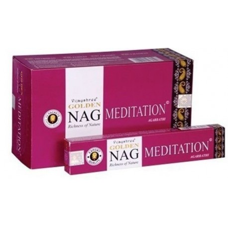 Incienso Golden Nag Meditation 15 gr Agarbathi