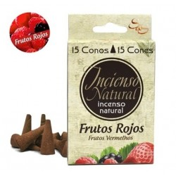 INCIENSO NATURAL 15 CONOS FRUTOS ROJOS SYS