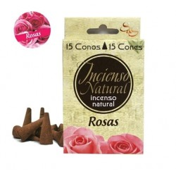 INCIENSO NATURAL 15 CONOS ROSAS SYS