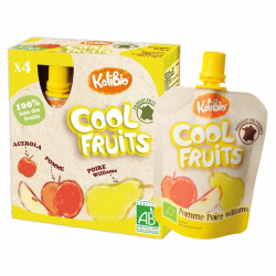 COOL FRUITS MANZANA Y PERA 4 X 90 GR VITABIO