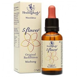 5 FLOWERS ORIGINAL BACH FLOWER COMBINATION 30 ML HEALING HERBS