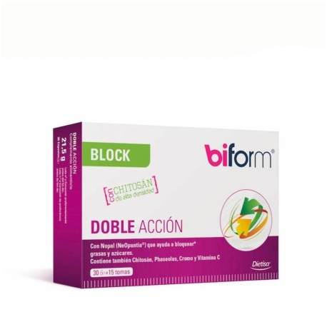 Doble acción block 30 comprimidos de biform