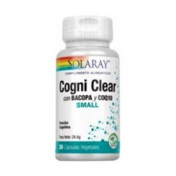 COGNI CLEAR CON COQ10 SMALL 30 CÁPSULAS VEGETALES SOLARAY