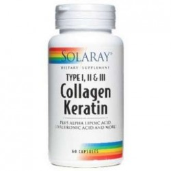 Collagen Keratin   60 Cápsulas  Solaray