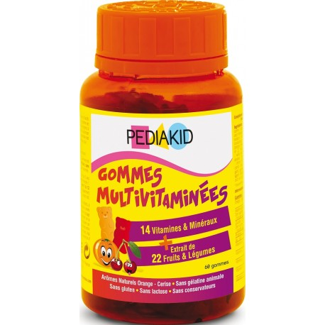 Gominolas Multivitaminadas 60 gominolas Pediakid